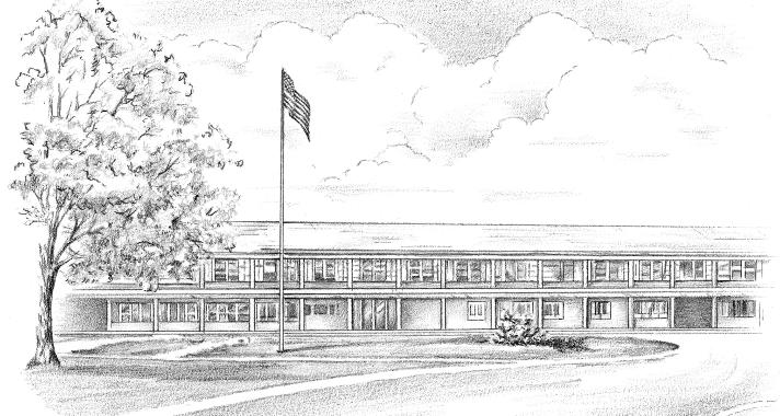 black white building